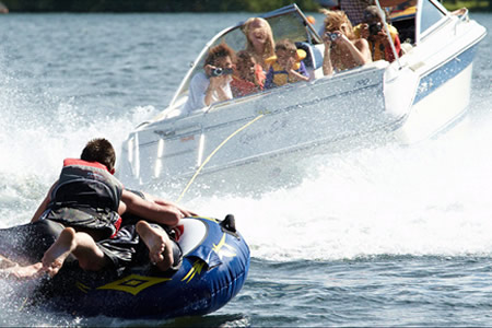 Tubing and boating are only 2 of the activities available at Fernleigh Lodge.