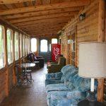 Bathroom at Chemong #5 Log Cabin Rental - Fernleigh Lodge, Ontario