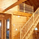 Cabin on the Hill at Fernleigh Lodge has a loft with 2 double beds.
