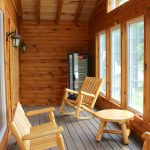 Cabin on the Hill has a beautiful Sun room facing the Lake!