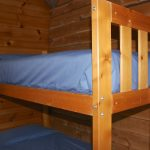 Bunk beds in Chemong #1 Rental Cabin at Fernleigh Lodge