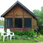 Chemong #1 Original Log Cabin for Rent at Fernleigh Lodge