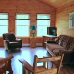 Eddies Cabin Living Room at Fernleigh Lodge - Ontario's Cabin Rental Resort