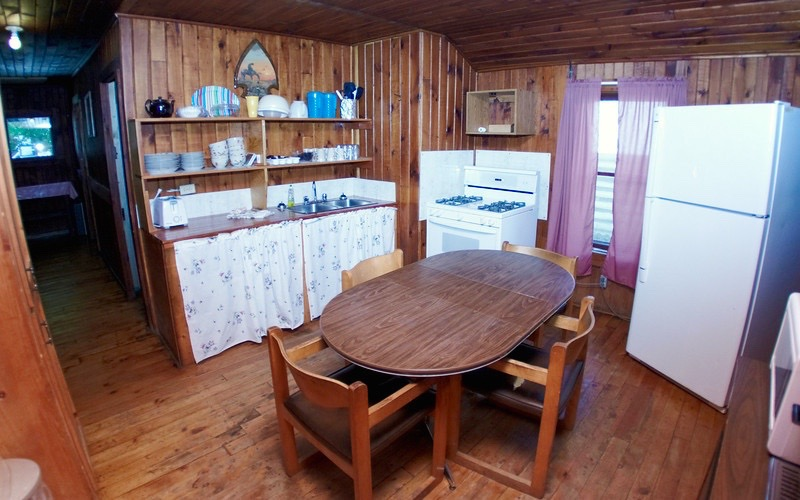 Manor Cabin Kitchen at Fernleigh Lodge - Lakeside Cabin Rentals