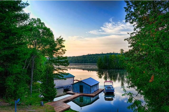 Kashwakamak Lake View from Osborne's Rental Cabin - Fernleigh Lodge