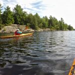 Kayakers can enjoy the backwoods experience at Bon Echo's Joeperry Lake.