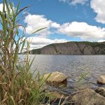 Mazinaw Rock towers over Mazinaw Lake - Bon Echo