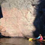 The Old Walt inscription at Bon Echo is a tribute to the poet, Walt Whitman.