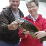 Expert fishing guide-owner Kevin Phillips with guest at Fernleigh Lodge, Ontario Canada.