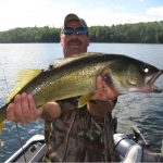 Giant Walleye caught at Fernleigh Lodge, Ontario Canada