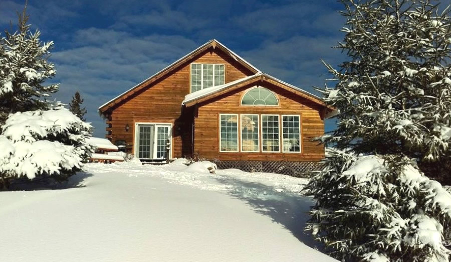 Remarkable Winter Log Cabin Vacation Accommodation Ontario Download Free Architecture Designs Viewormadebymaigaardcom